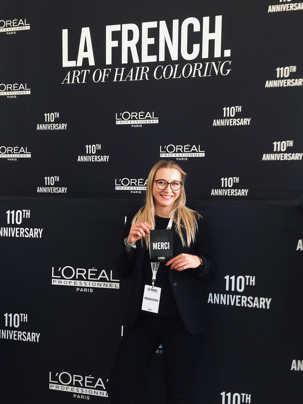 Aleks at L'Oréal 110 anniversary in Paris - La French.Art of Hair Coloring
