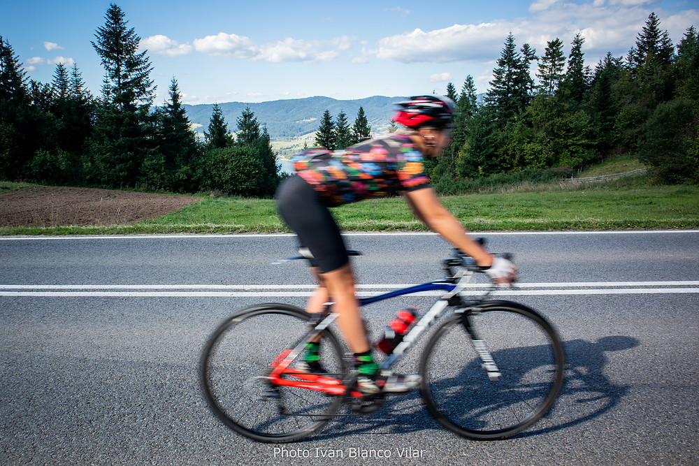 She's a Cyclist during Tatra Tour