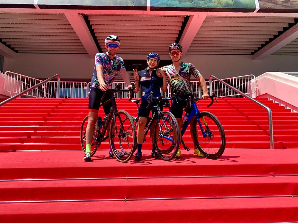 Cycling friends on red carpet Cannes cycleblood, she's a cyclist & the colorful cyclist