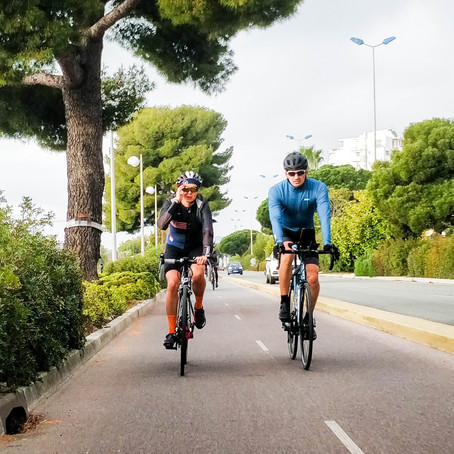 What's the weather like in April on Cote d'Azur? Pre-season cycling on French Riviera.