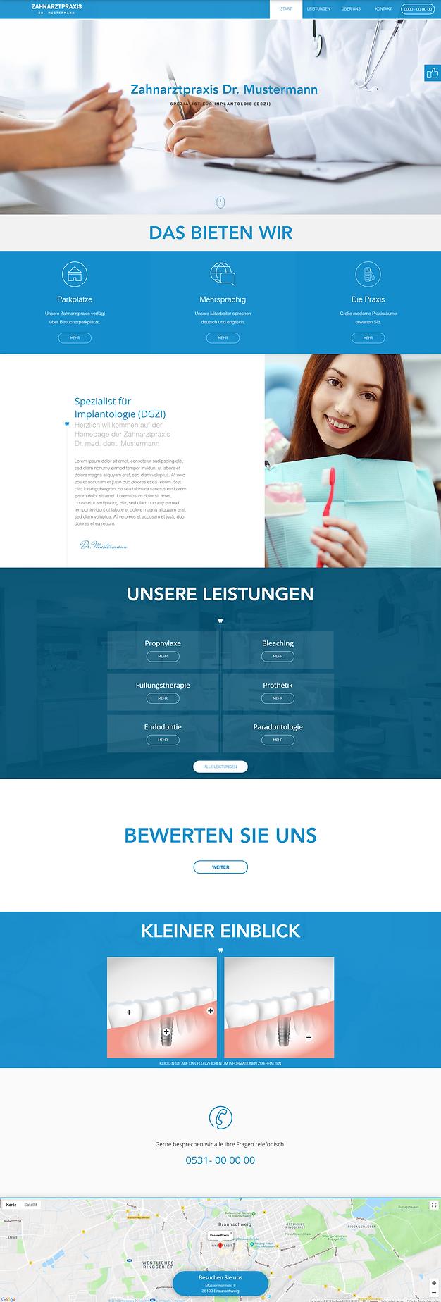 praxishomepage webdesign
