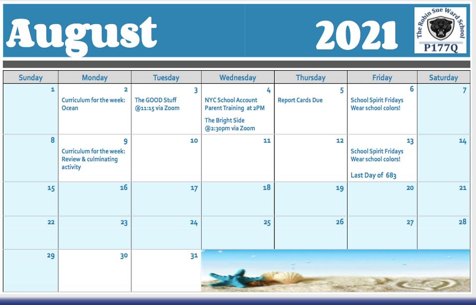 P177Q August Calendar