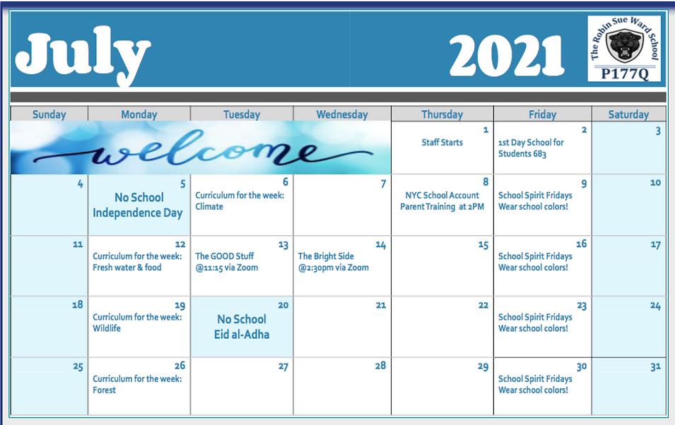 P177Q July Calendar