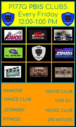PBIS Clubs Choice Board