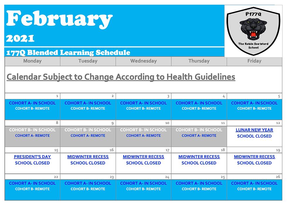 P177Q February Blended Calendar
