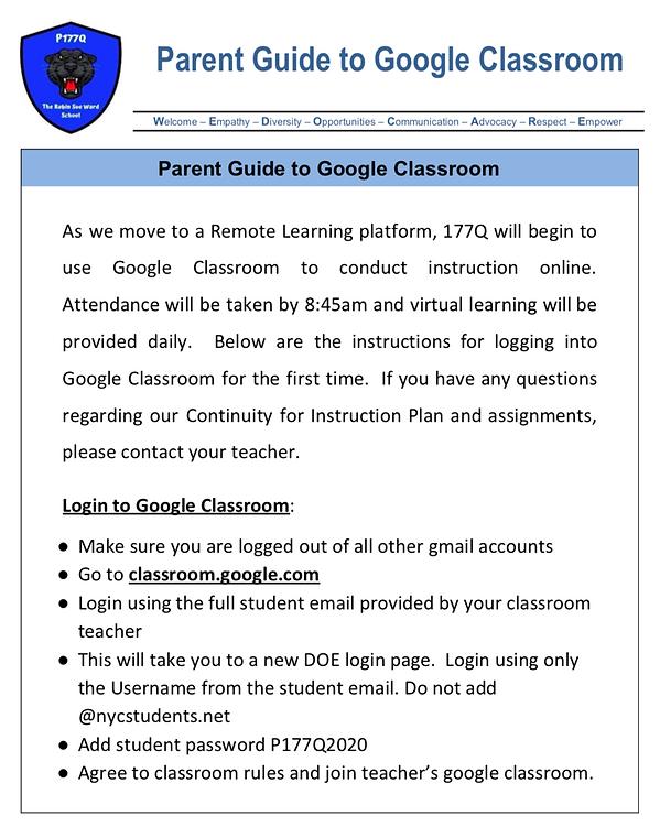 p177q parent guide for google classroom.