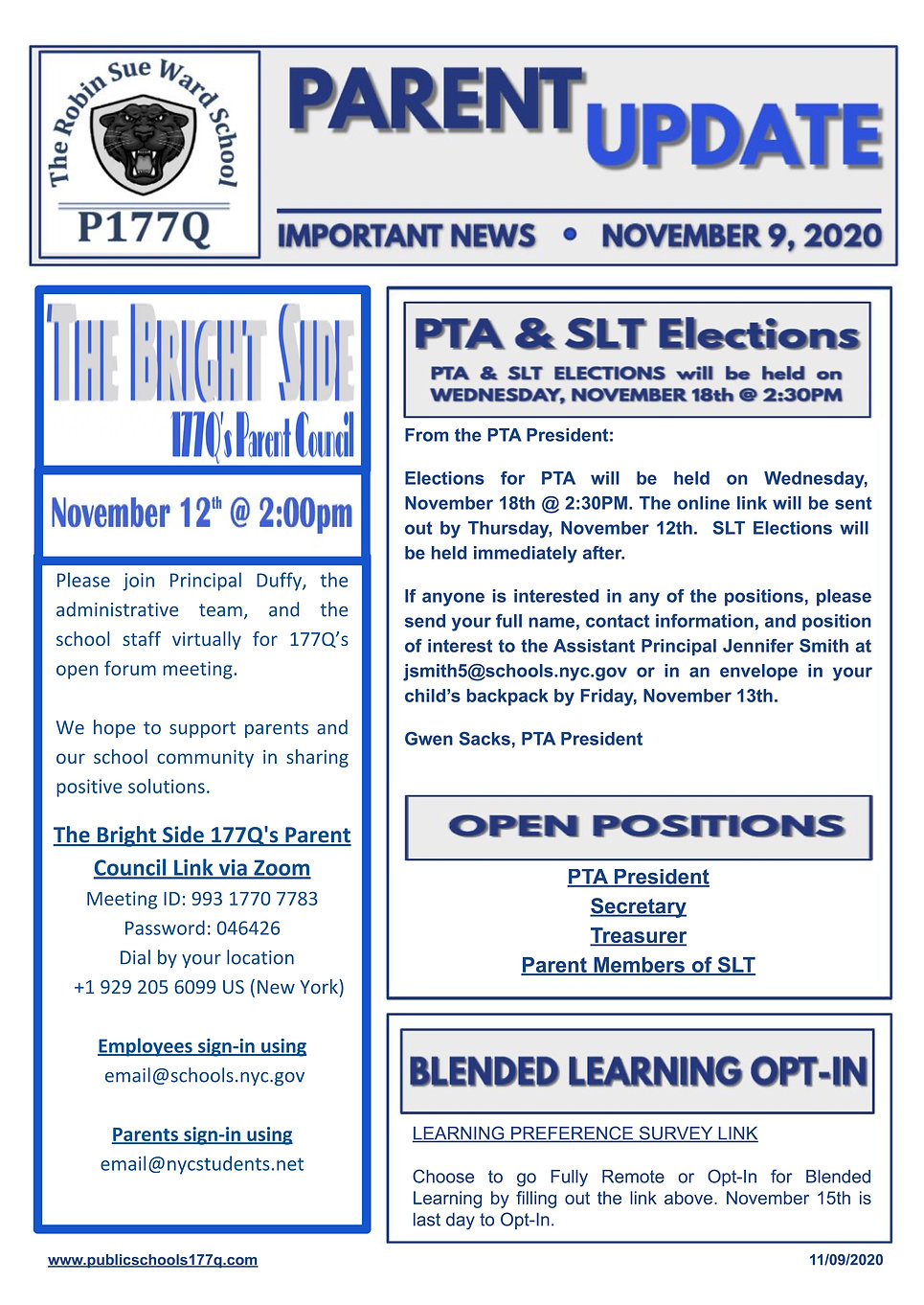 P177Q Parent Newsleter November 2020 .jp
