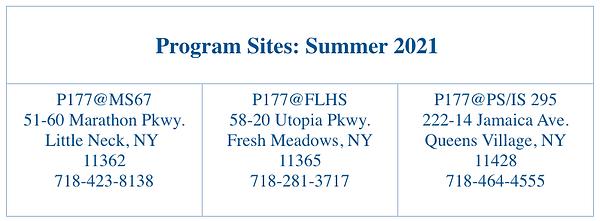 P177Q Summer Program Locations