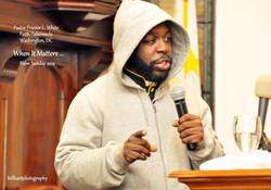 Pastor in hoodie
