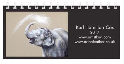 elephant calendar 2017 artist unique