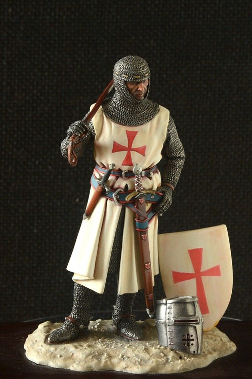 90mm scale model Knight figurine hand-painted