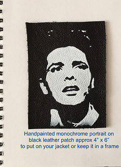 Cliff Richard Richards monochrome portrait on leather
