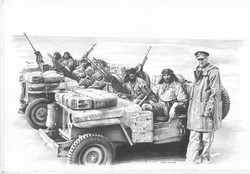 SAS pencil drawing