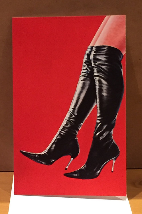 SALE Black Leather Boots medium sized card