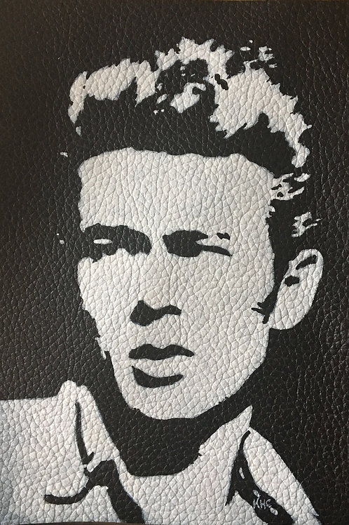 James Dean handpainted leather patch