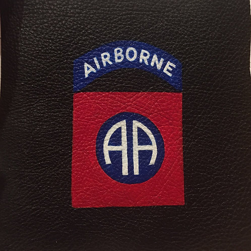 82nd Airborne Division handpainted leather patch