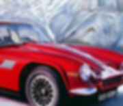 TVR car red painting Canada Candian Rockies