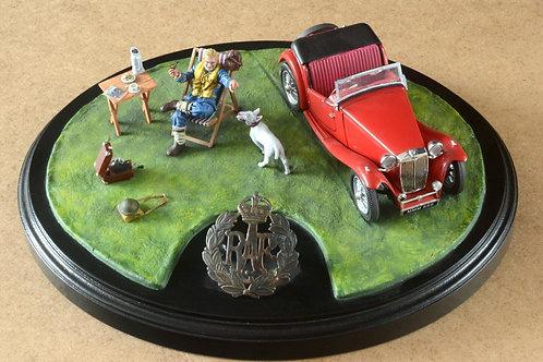 RAF pilot 'Time for Tea' diorama hand-painted