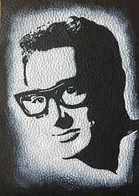 BUDDY HOLLY LEATHER jacket PATCH