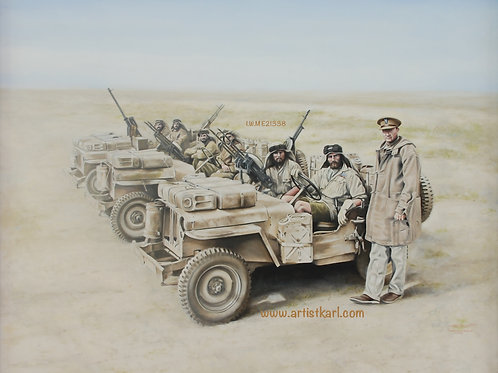 'SAS Desert Raiders' oil painting (available for overseas purchase)