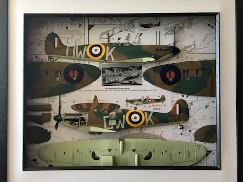 Supermarine Spitfire Mk 1A Decoupage