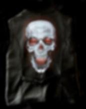 skull gothic goth red eyes