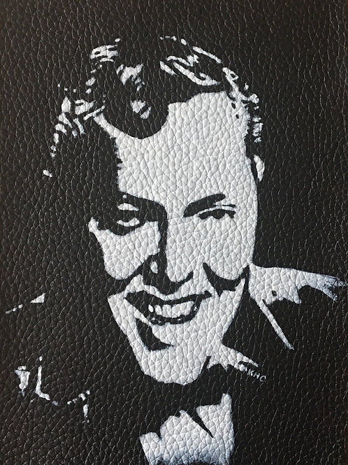 Bill Haley handpainted leather patch