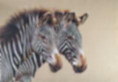zebras painted on leather wildlife