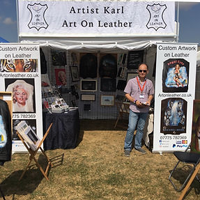 Art On Leather artwork Guns n Roses Flying Legends Duxford trader commission @artistkarl