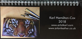 Art on Leather jacket art calendar Karl Carl