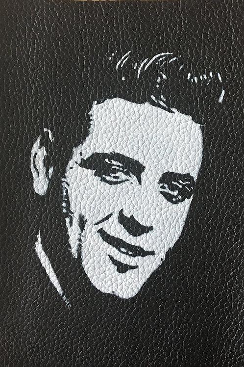 Eddie Cochran handpainted leather patch