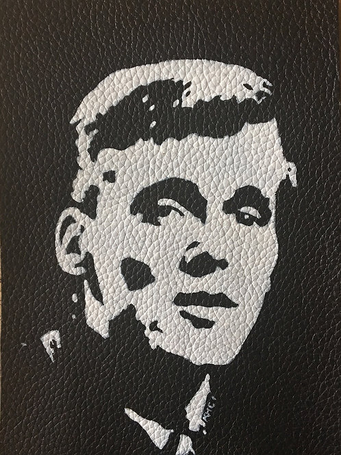Billy Fury handpainted leather patch