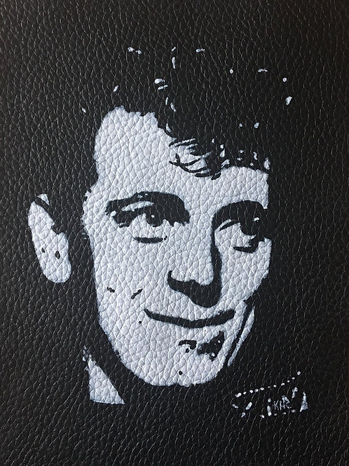 Gene Vincent handpainted leather patch