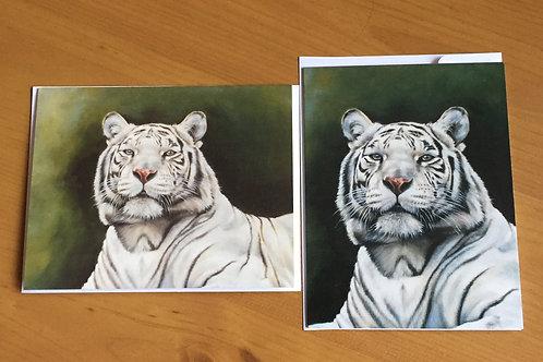 SALE 2 x White Tiger small card