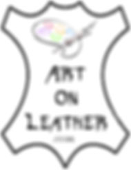 Art on Leather logo painting Karl Hereford UK Herefordshire known as the Leatherman