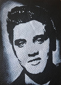 ELVIS PRESLEY LEATHER jacket PATCH