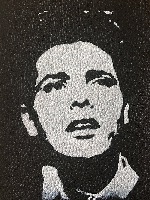 Cliff Richard handpainted leather patch