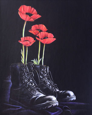 Standing Proud painted on leather 3rd year wedding anniversary gift celebration 3 years