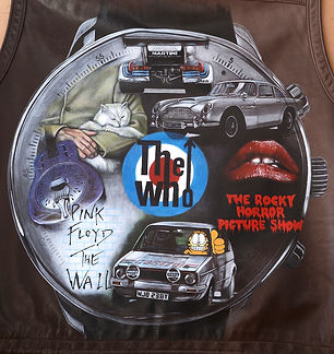 Garfield rallying rally pink floyd The Who James Bond 007 Rocky Horror Picture Show