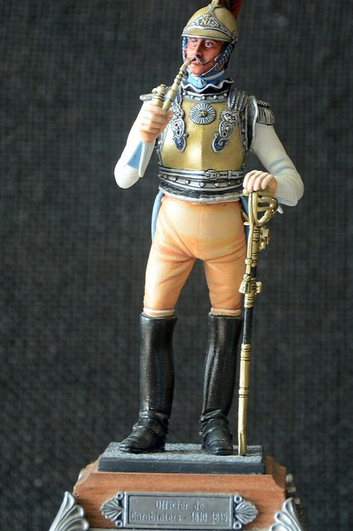 Model of the 'Le Cimier' 110mm Officer de Carabinier 1810 figurine hand-painted