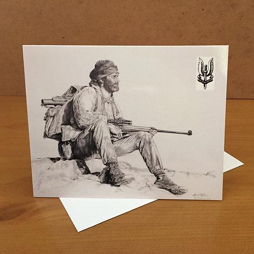 SAS Joe small card depicting badge SALE