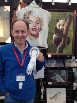Cheshire County Show winning a prize for art display