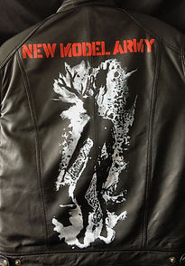 New Model Army leather jacket art Karl Carl fan art