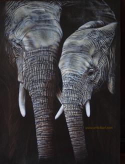 Mother's Whisper - elephants