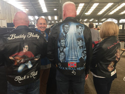 3 jackets I have painted