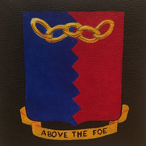 78th Fighter Group handpainted leather patch