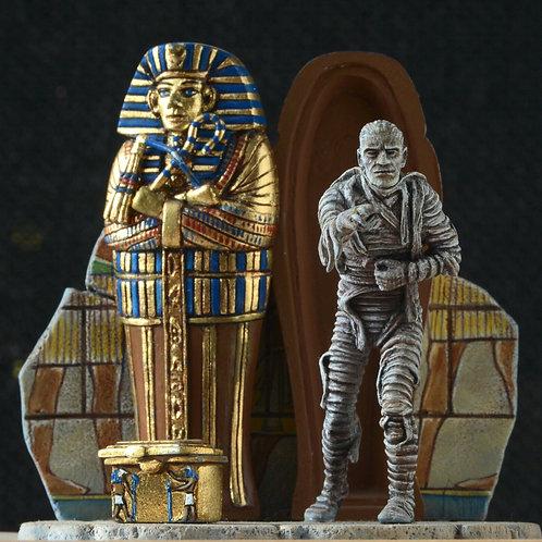 The Mummy & Monster figures handpainted