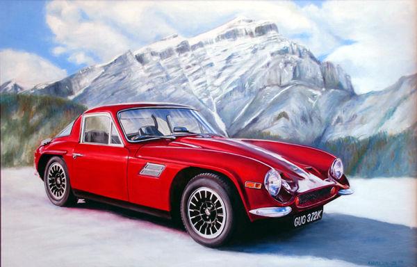 customer TVR car painting commission UK based artist