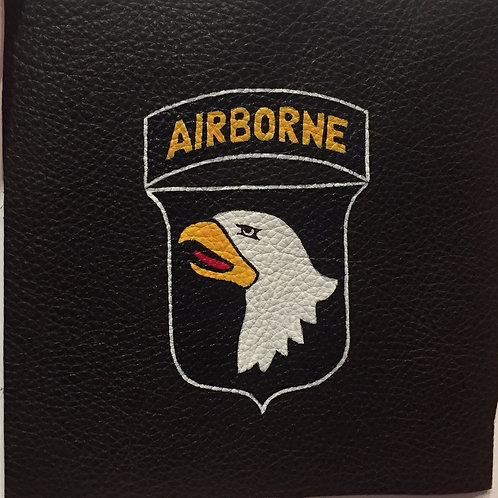101st Airborne Division handpainted leather patch