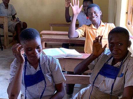 Gumo Ghana students pupils overseas studies school rebuild extension classroom classrooms